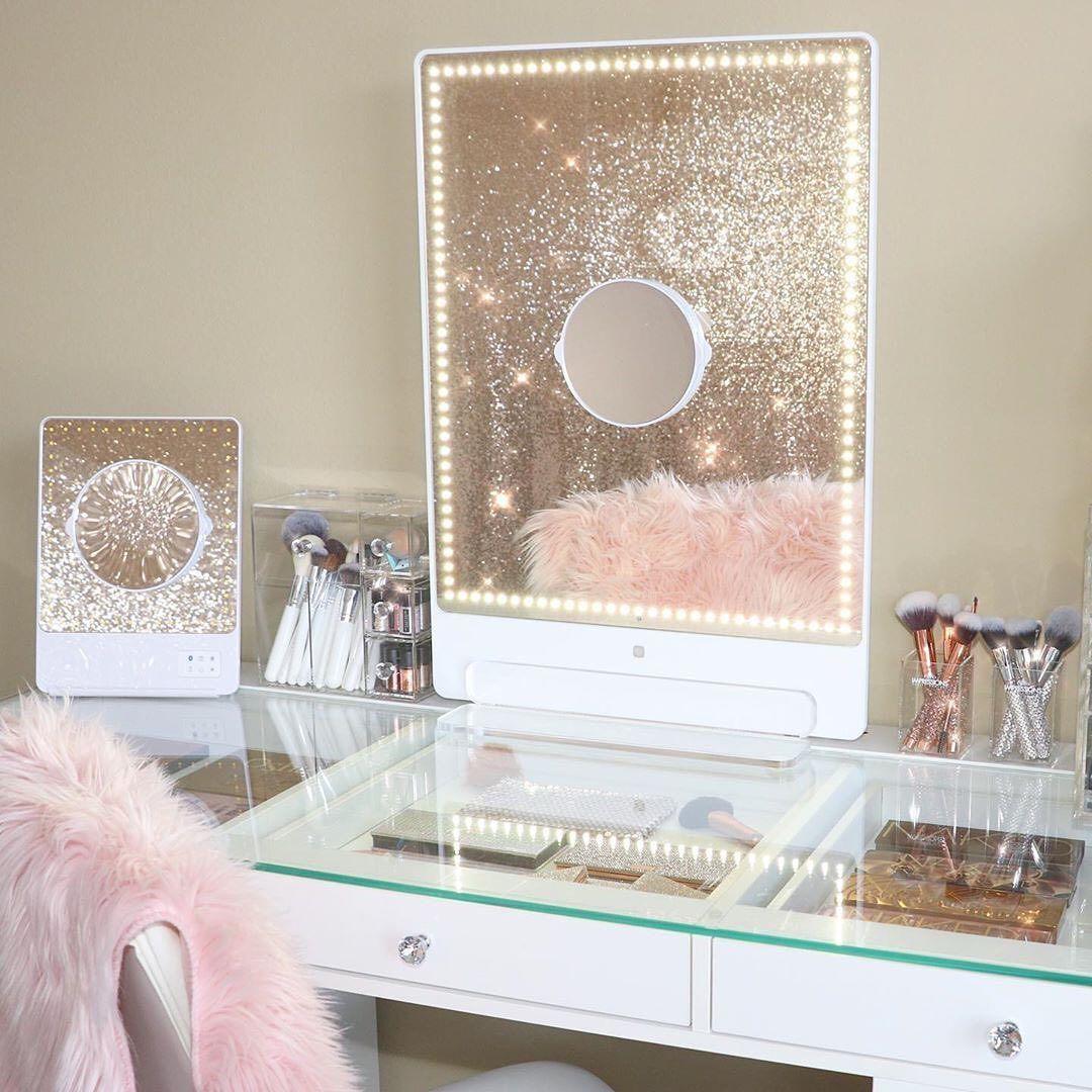 Riki Tall and Riki Skinny lighted mirrors Vanity