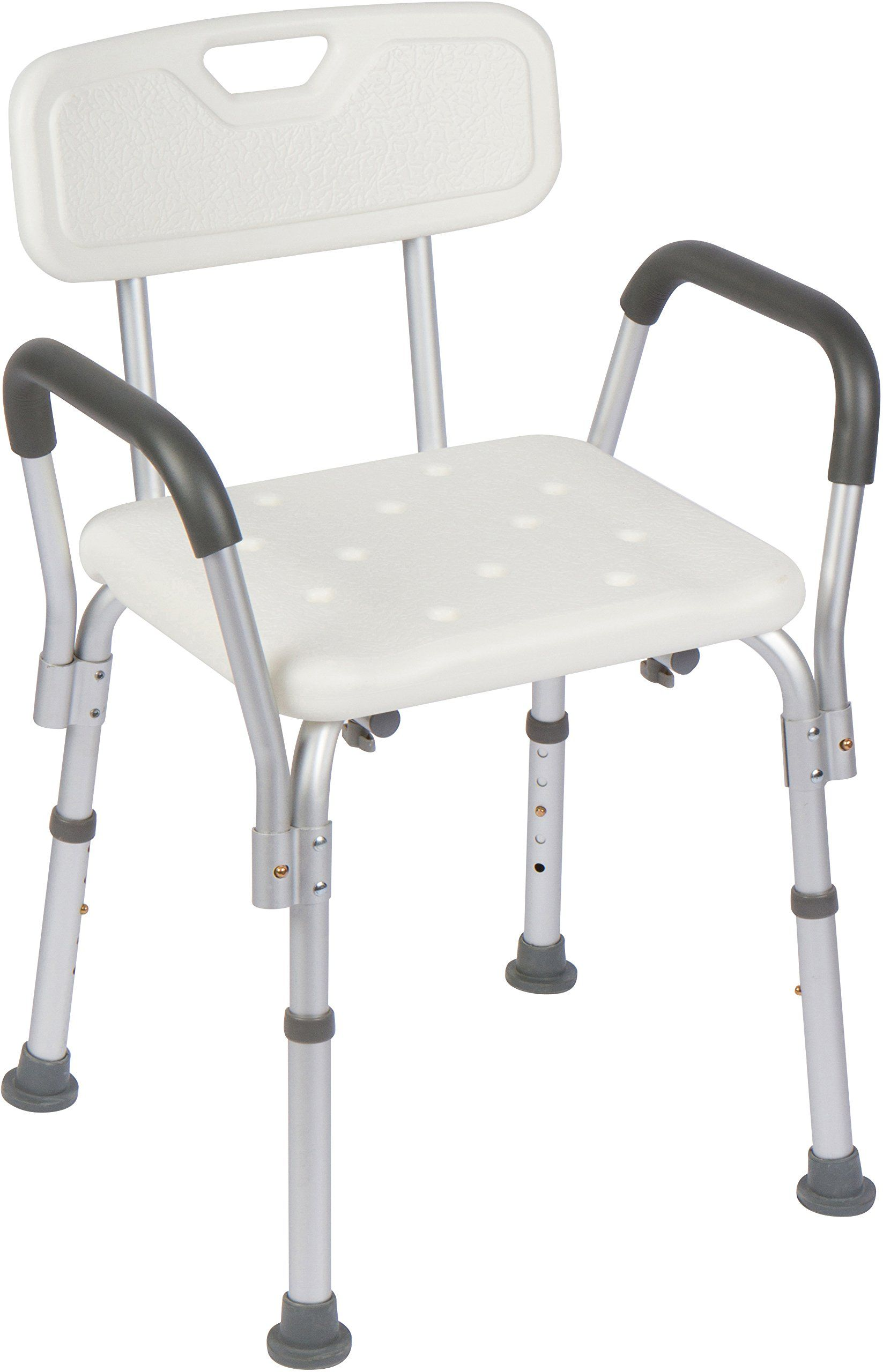 Casiva Premium Shower Chair with Arms - Strong, Secure Bathtub Chair ...
