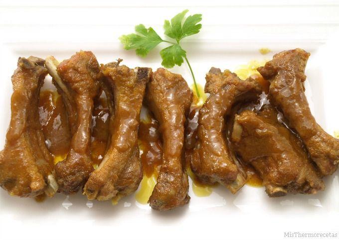 Costillas de cerdo con curry y miel - MisThermorecetas.com
