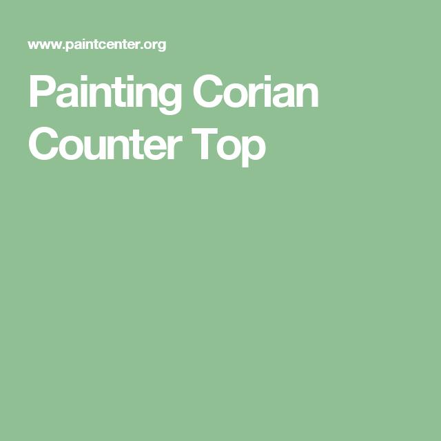 Painting Corian Counter Top