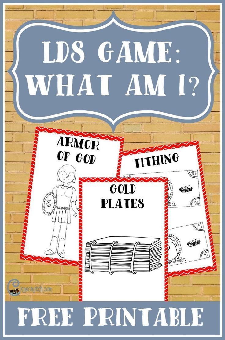 Play This New LDS Game: What Am I? | Family Home Evening ...