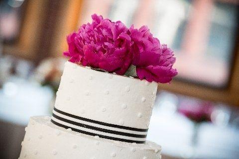 Peonies on wedding cake:)