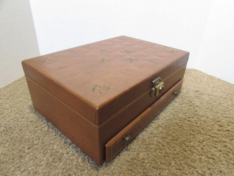 Vintage Valet Jewelry Box Mens Valet Mens Storage Box Horse