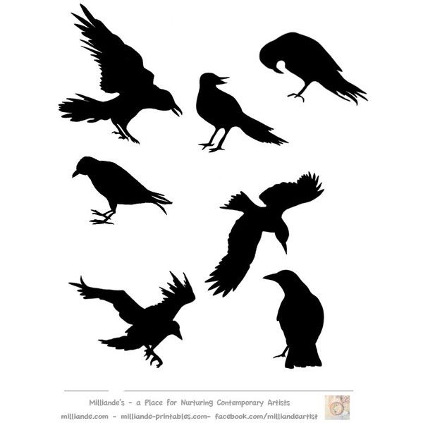 Crow silhouette template collectionprintable crow stencils crow crow silhouette template collectionprintable crow stencils crow liked on pronofoot35fo Gallery