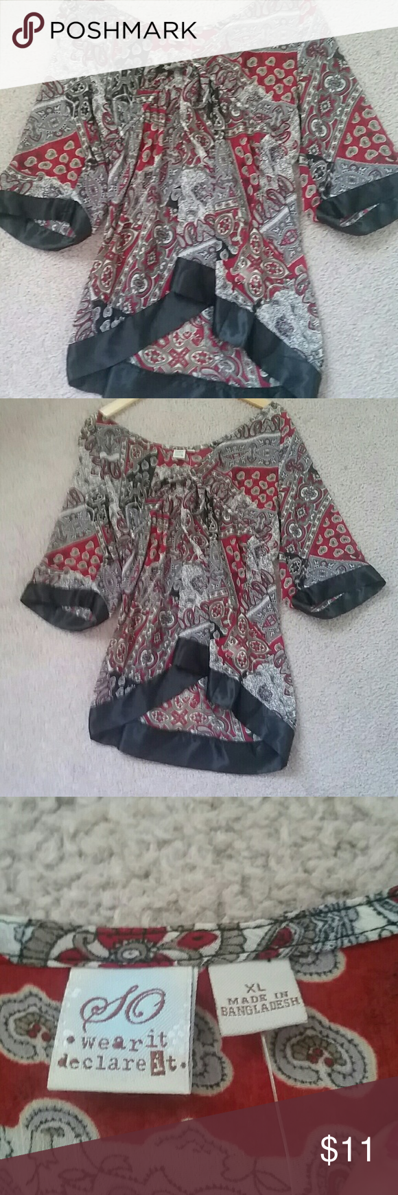 Boho Style Blouse NWOT NWOT Mighty Marvelous Tops Blouses