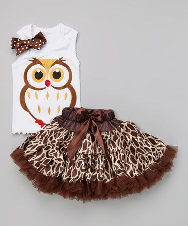 Loving this White & Brown Owl Tank & Spot Pettiskirt - Toddler & Girls on #zulily! #zulilyfindshttp://www.zulily.com/invite/kissa95414