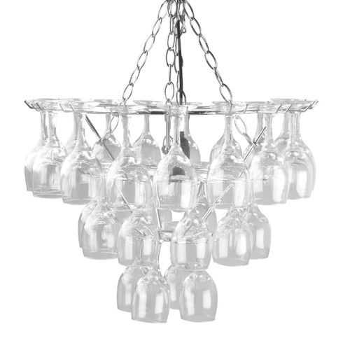 Buy vino glass pendant lamp from at bed bath beyond create a unique ambiance with this fabulous chandelier style pendant lamp designed by eibert draisma