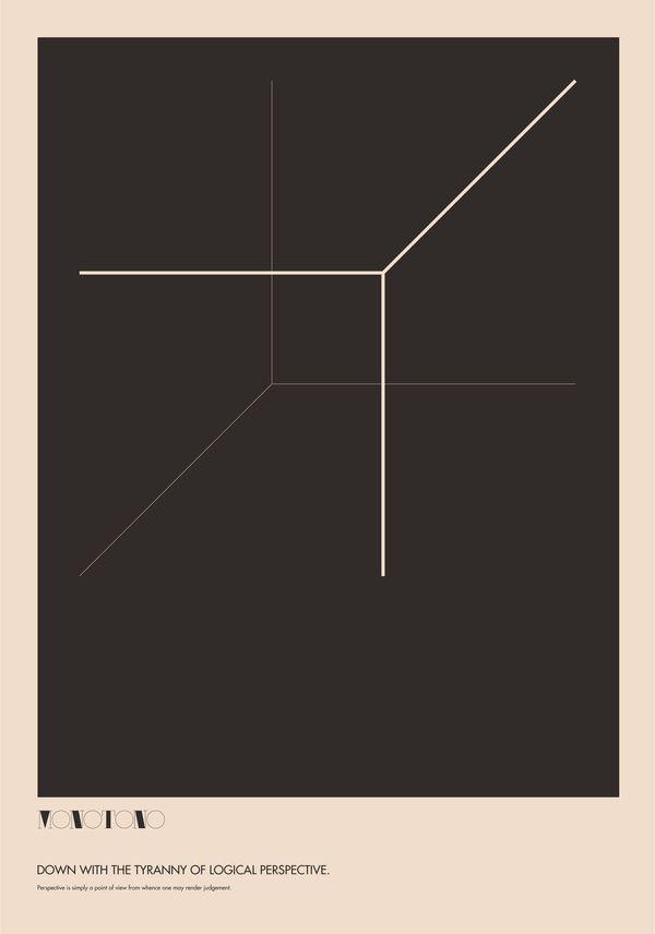Monotono - The Absurdity of Form. Poster Study / Ryan Atkinson #grafica #poster #geometria