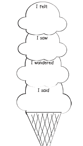 Kwl chart with writing lines for first graders