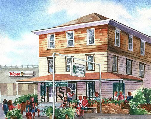 Springer Ice Cream Shop, Stone Harbor by Beth Kantor