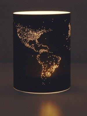"DIY lampshade. Teelichtbanderole - ""Night on Earth"