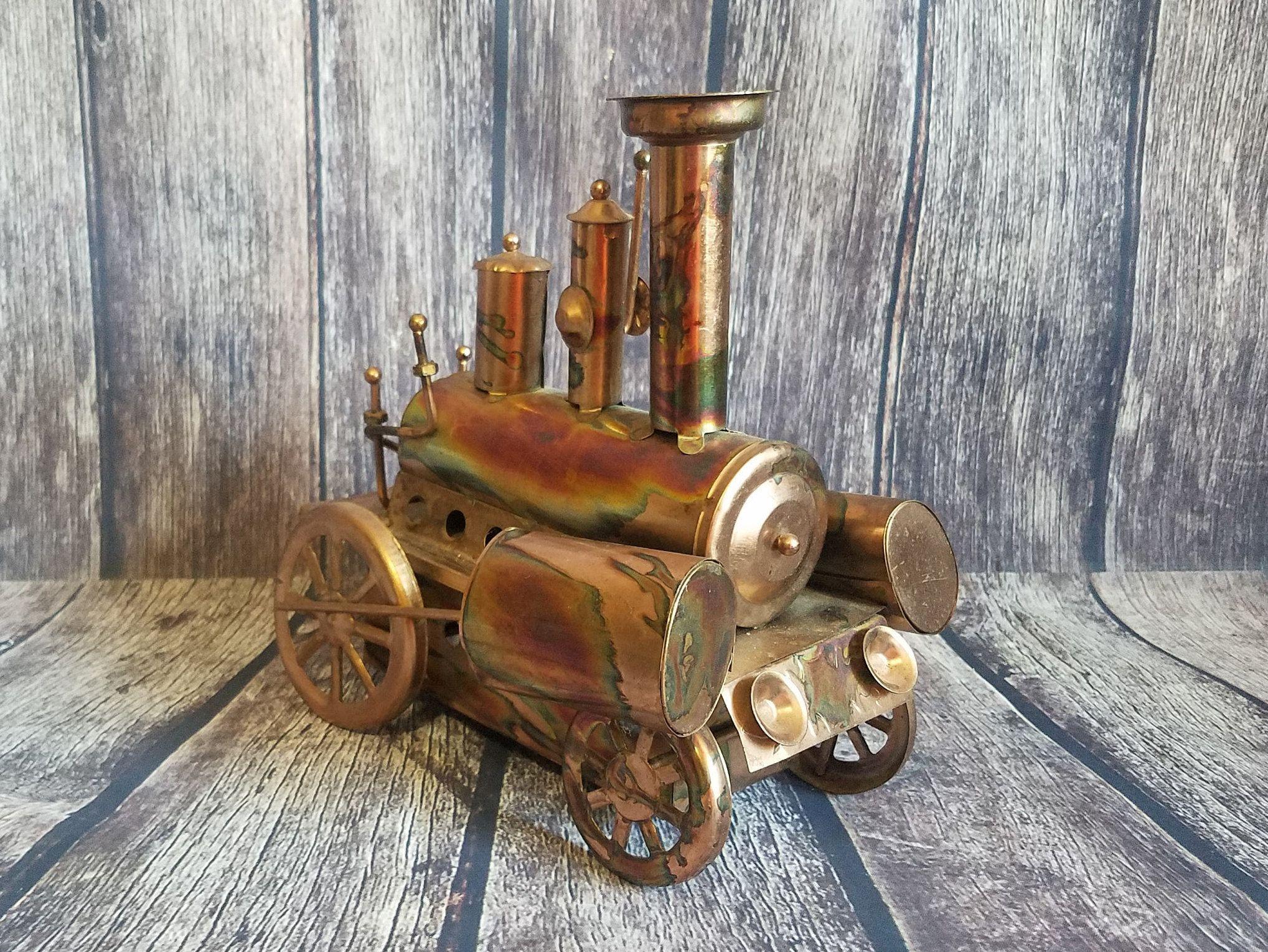 Vintage 1970's Metal Train Musical Toy | Metal Industrial ...