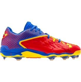 Under Armour Men S Deception Dt Alter Ego Superman Low Baseball Cleat Baseball Cleats Cleats Under Armour Men