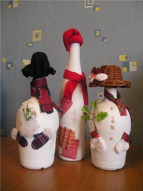 Pin de mayra gomez en navidad pinterest botellas botellas decoradas y botellas de vidrio - Botellas decoradas navidenas ...