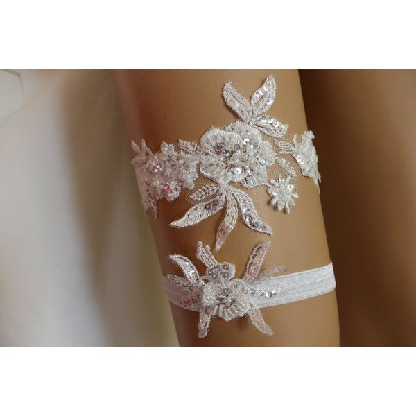 FREE SHİP Wedding Garters,İvory Lace Bridal Garter,Lingerie,Bridal... ($20) via Polyvore featuring intimates, lace bridal lingerie, lacy lingerie, bride lingerie, bridal lingerie ve wedding lingerie