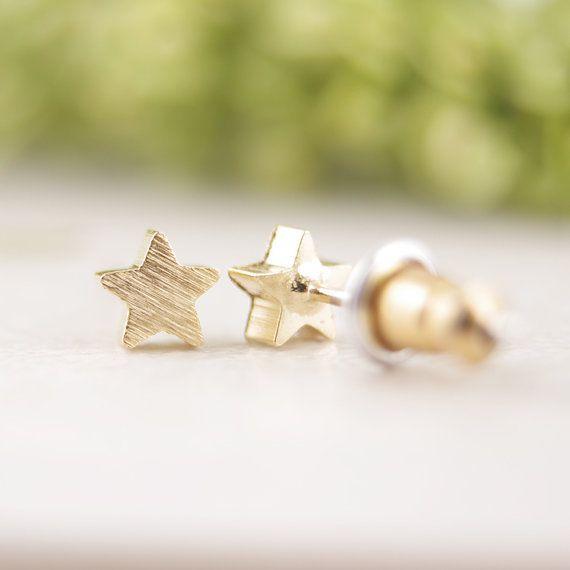 New fashion stella a Cinque punte orecchini idea regalo damigella d'onore oro rosa oro minuscolo piccolo geometrica orecchini ED025