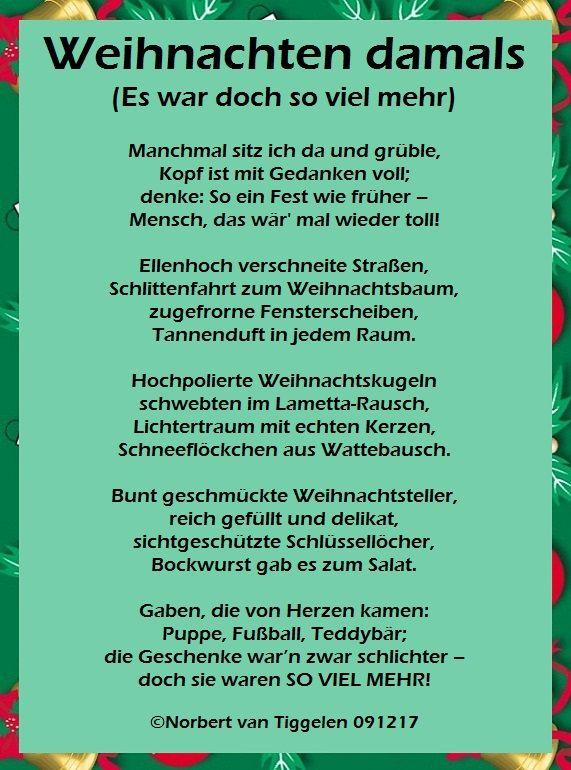 Besinnliche gedichte weihnachten advent