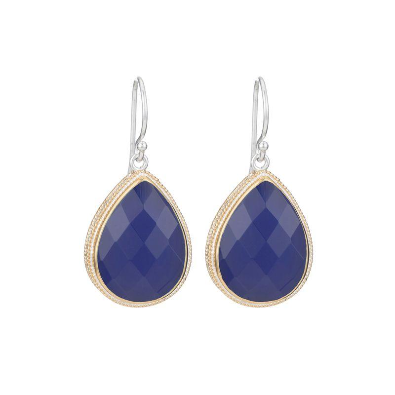 Anna Beck Blue Chalcedony Teardrop Earrings