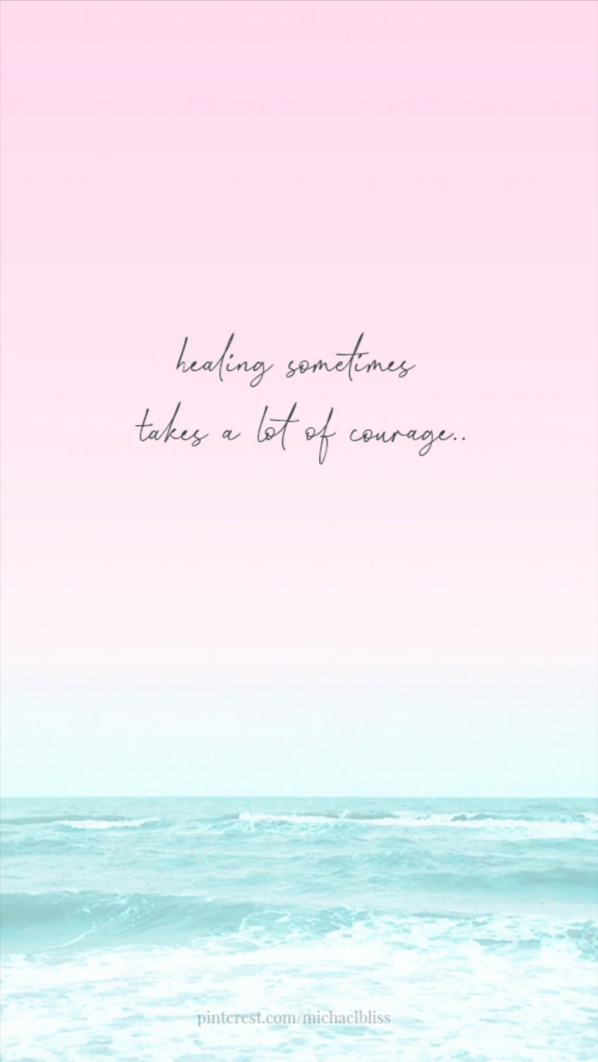 Healing sometimes takes a lot of courage