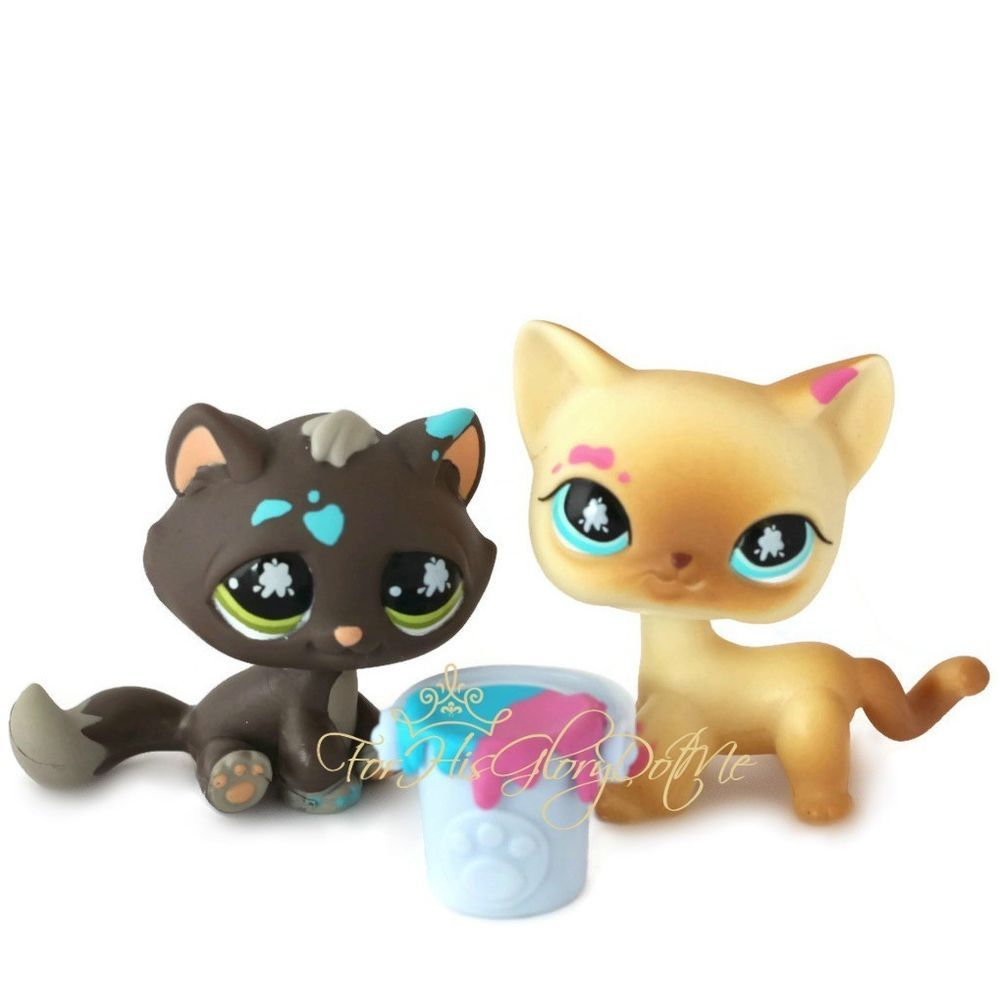 Littlest Pet Shoplps815 816messiest Yellow Paint Kitty Cat