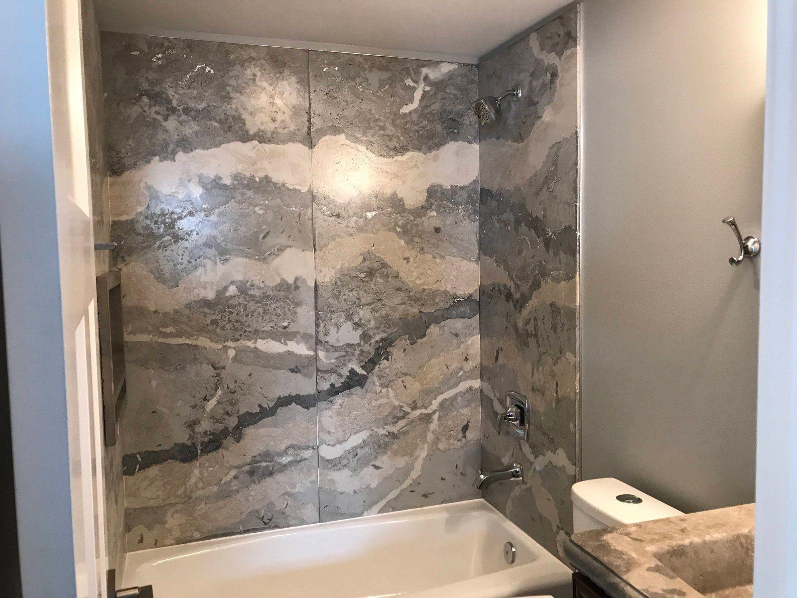 Concrete Shower Surround 1 2 Panels Free Shipping Etsy Concrete Shower Shower Surround Shower Panels