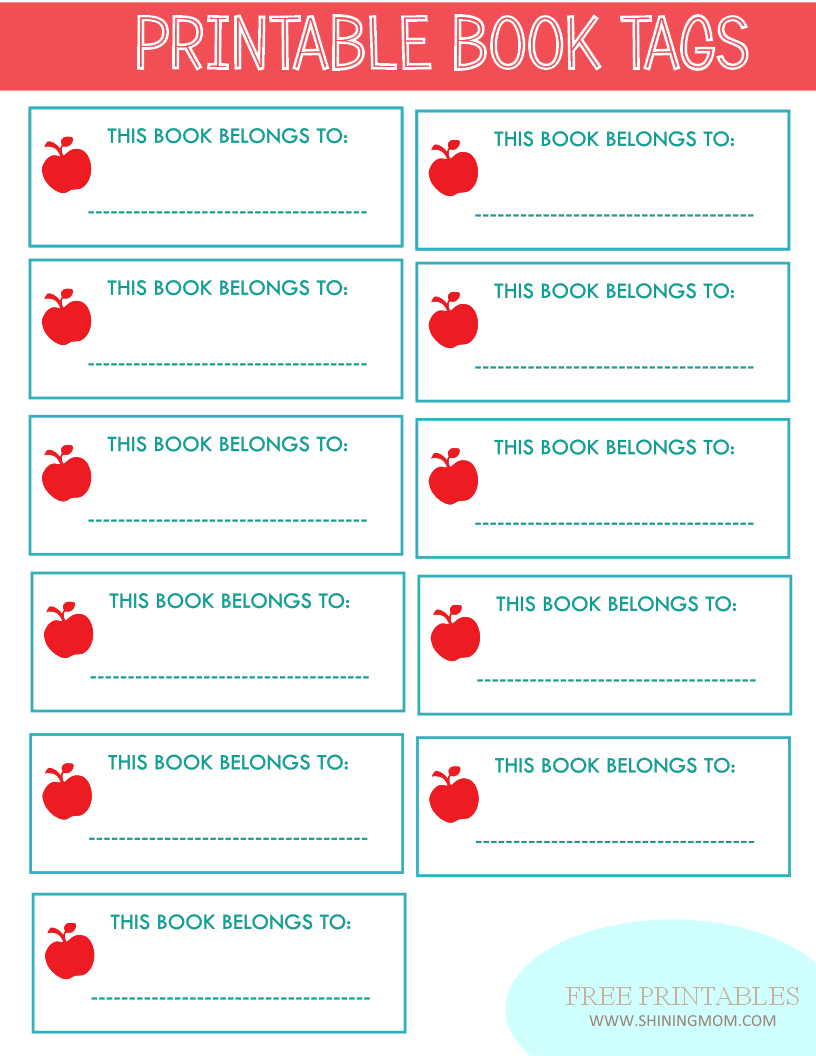 new project: back to school notebook and book labels | printables