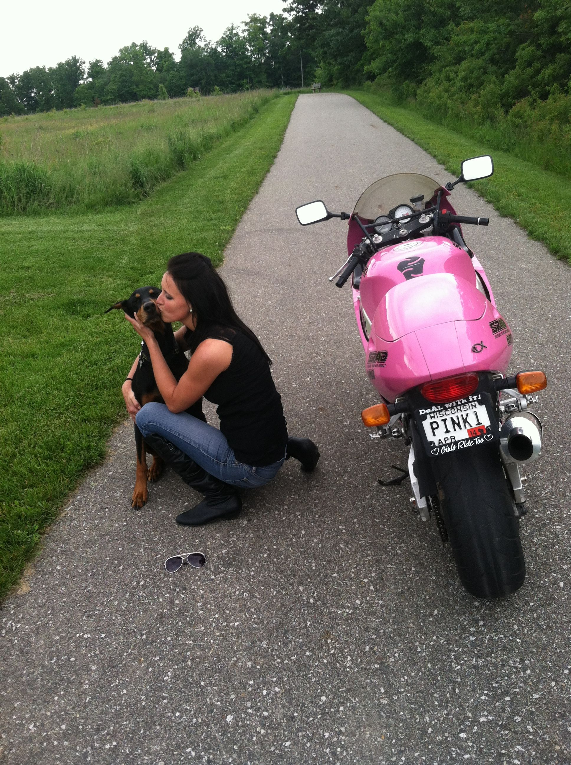 Girl's ride too Pink motorcycle
