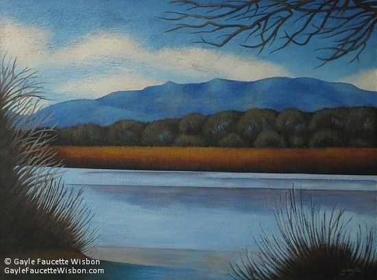 Along the Rio Grande by Gayle Faucette Wisbon was awarded Outstanding Acrylic in the May 2012 BoldBrush Painting Competition.