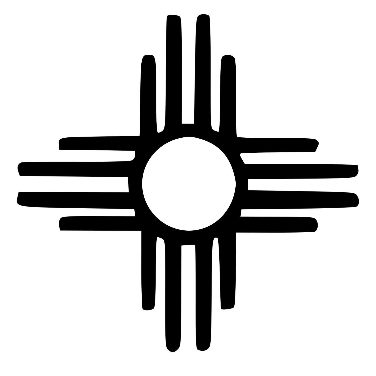 Native american sun die cut decal car window wall bumper phone native american zia sun symbol the sun symbol often means earth guardian in day and it can also represent healing energy buycottarizona