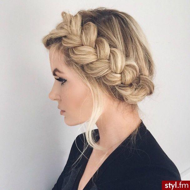 Fryzury Długie Na Co Dzień Proste Warkocze Blond Warkocze