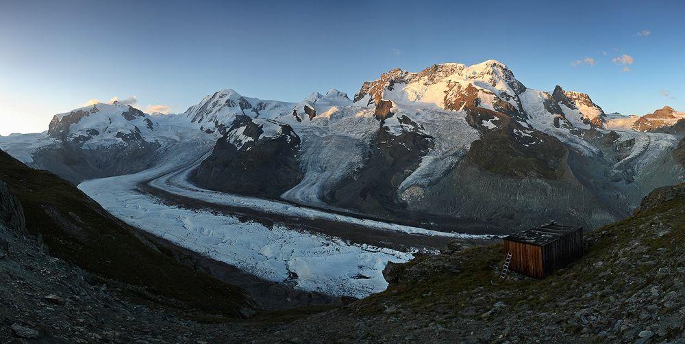 Masiv Monte Rosy  a ledovec Gornergletscher Jaroslav Spáčil  | Švýcarsko