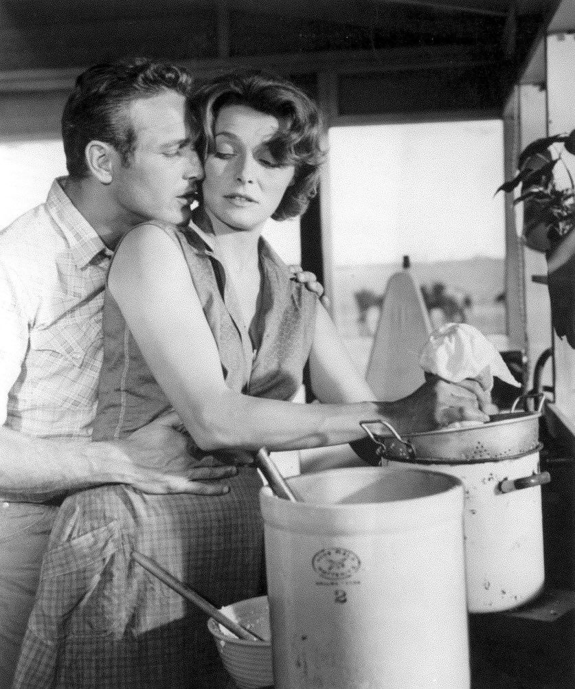 Paul Newman et Patricia Neal dans une photo publicitaire