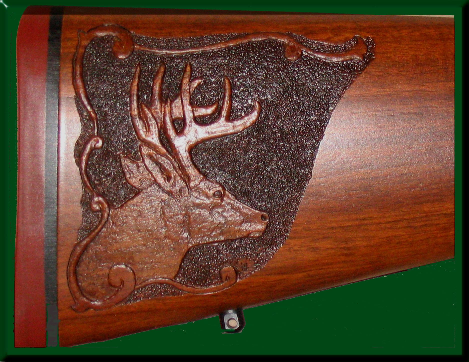 Gunstock Relief Carving Whitetail 1 Carving