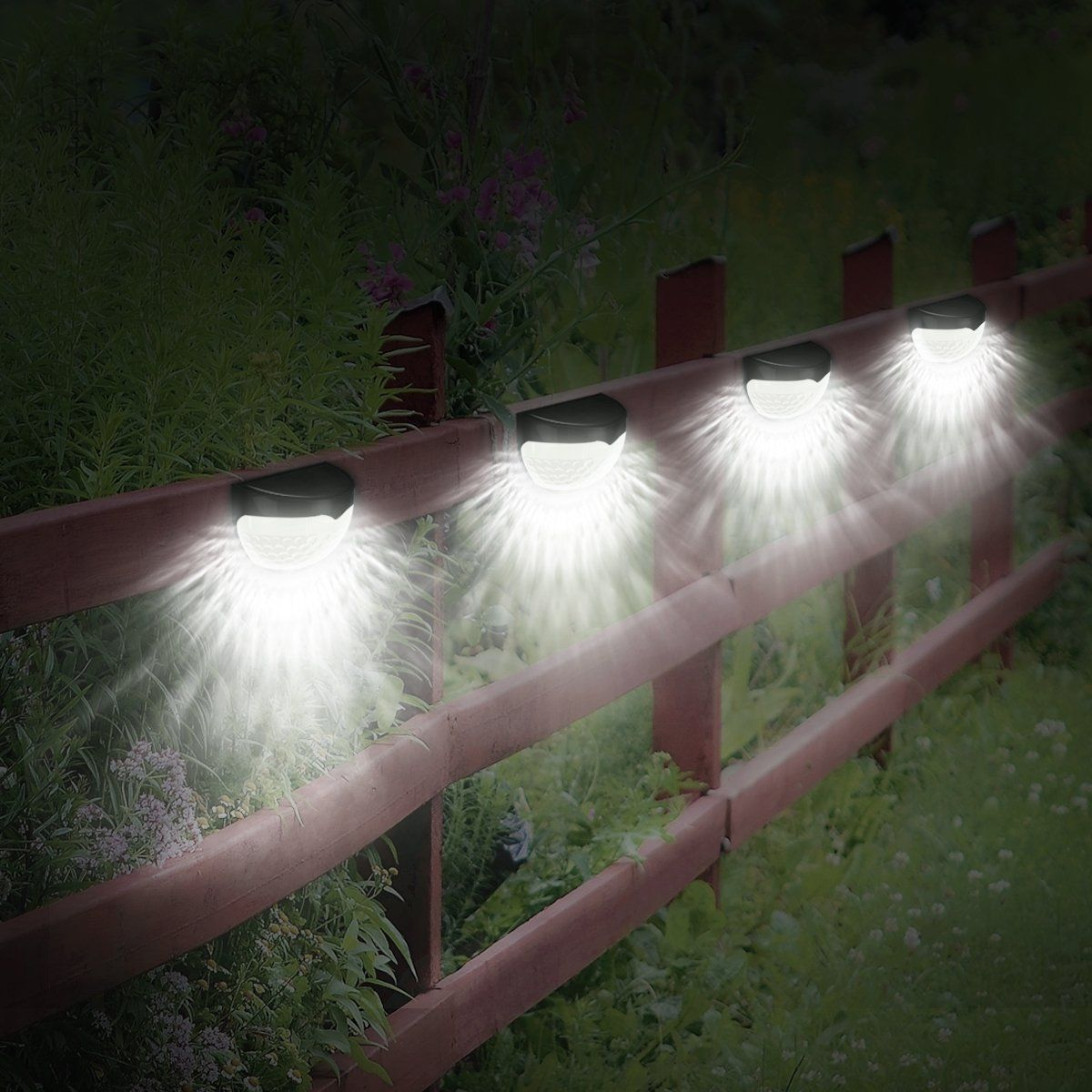 6 Led Amir Solar Lights Garden Ed Wireless Light