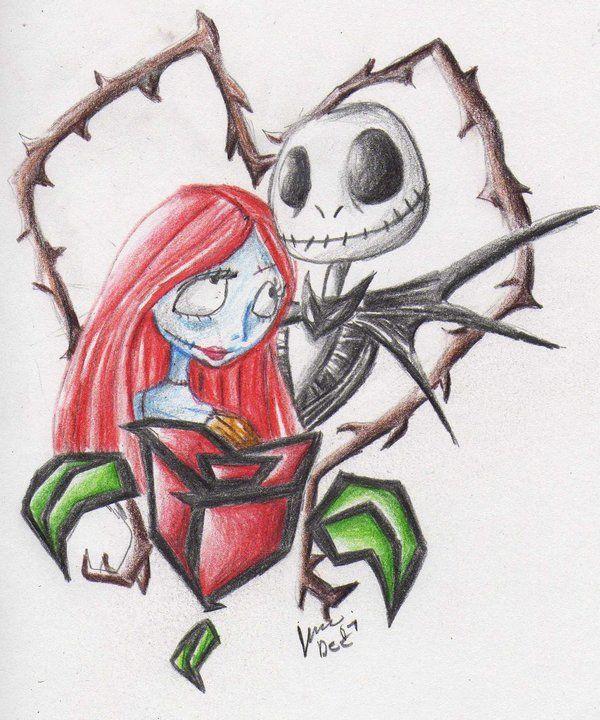 Jack Sally Nightmare Before Christmas Drawings Jack Skellington Drawing Nightmare Before Christmas Tattoo