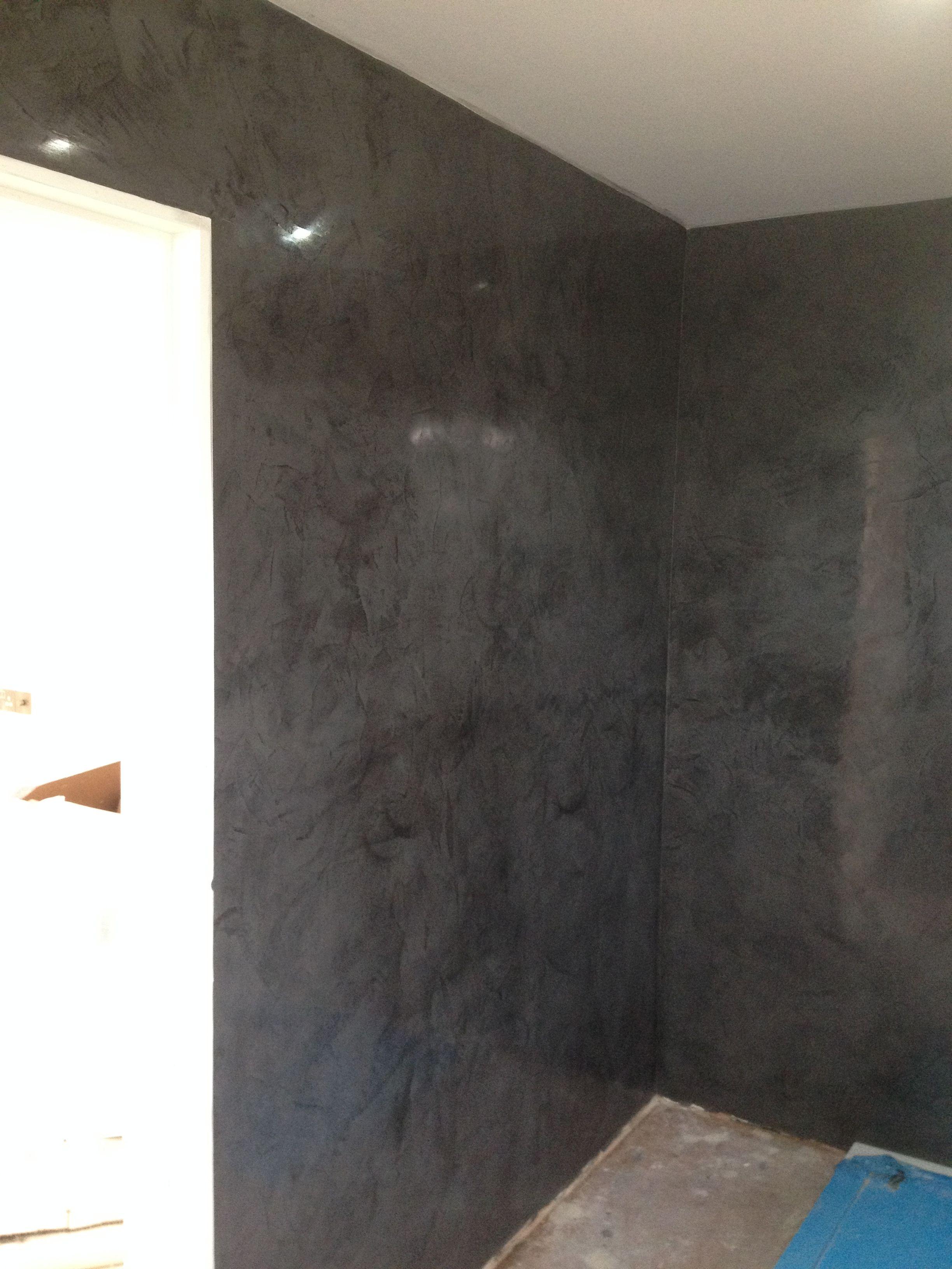 shower room i did in black marmorino classico venetian. Black Bedroom Furniture Sets. Home Design Ideas