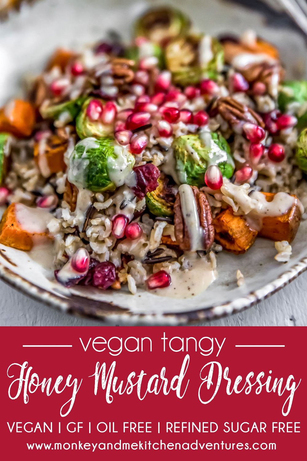 Vegan Tangy Honey Mustard Dressing Recipe (With images