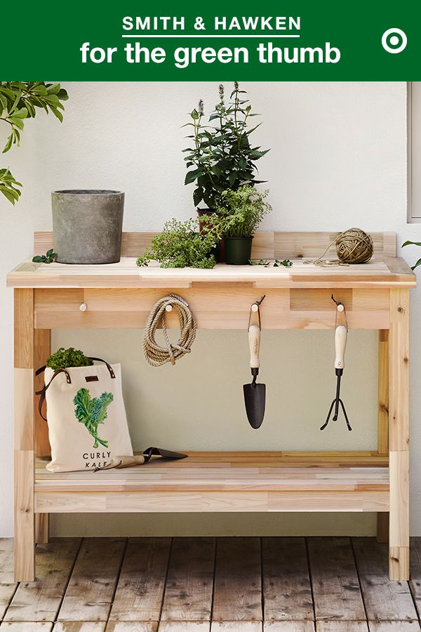 Create The Perfect Gardening Work Space With The Smith Hawken Garden Potting Table It S A Great Place To Sto Potting Bench Kitchen On A Budget Potting Table