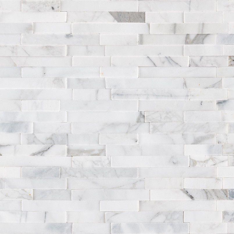 Calacatta Cressa Interlocking 3d Peel Stick Wall White Marble Backsplash Tile Marble Mosaic Tiles White Marble Backsplash Stick On Tiles