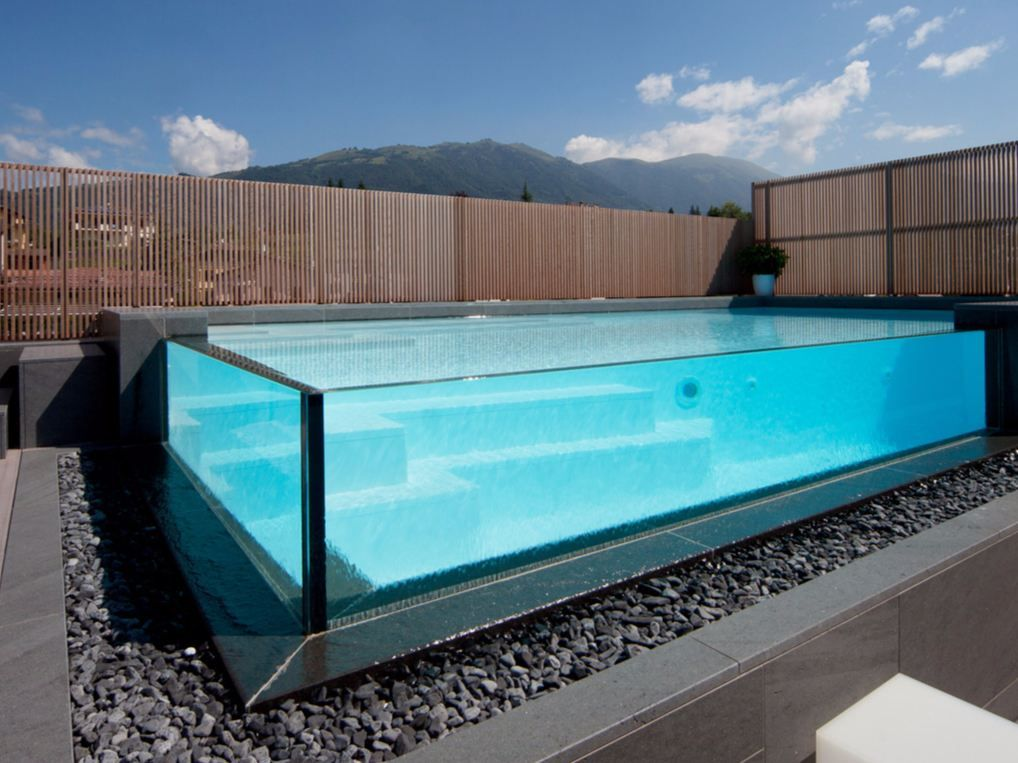 20 stunning glass swimming pool designs swimming pool - Luxury above ground pools ...