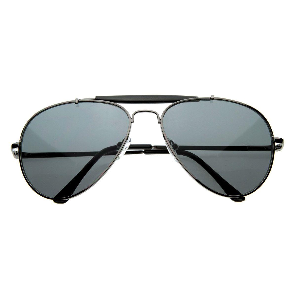 Premium Standard Aviator Sunglasses with Cross Bar
