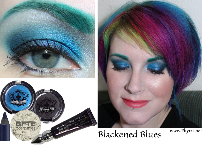 Sugarpill Blackened Blue Tutorial featuring Sugarpill, Urban Decay and BFTE. Pin now, read later! #crueltyfree #beauty #eyeshadow #tutorial