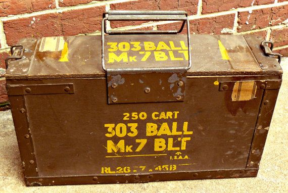 WWII British 303 MK7 BLT Wooden Ammo Box Stamped 1945 | Turnip Mims