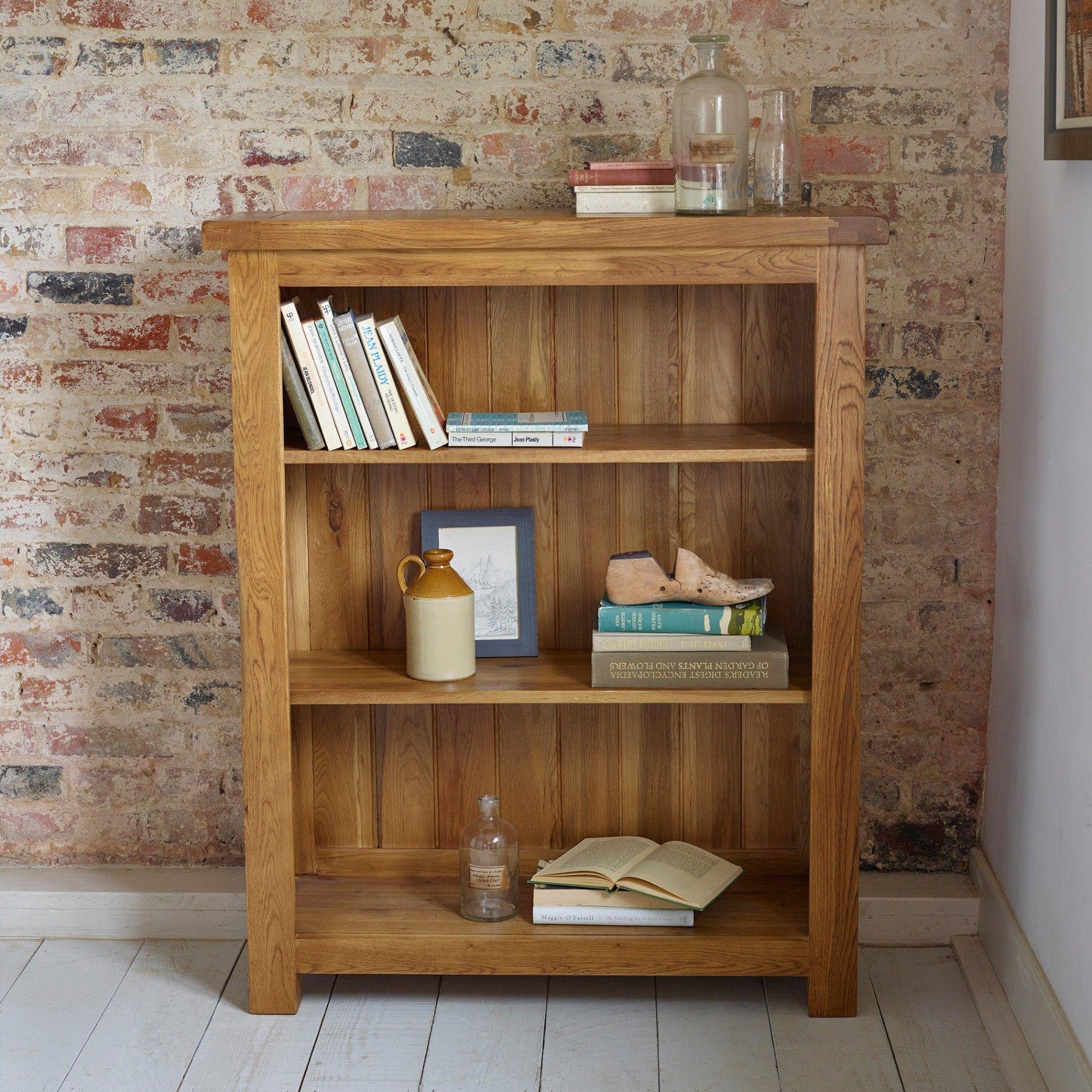 Original Rustic Solid Oak Small Bookcase Small Bookcase Solid