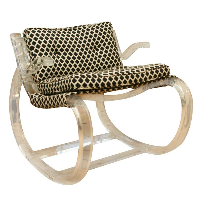 1960s Lucite rocking chair, via Room Lust