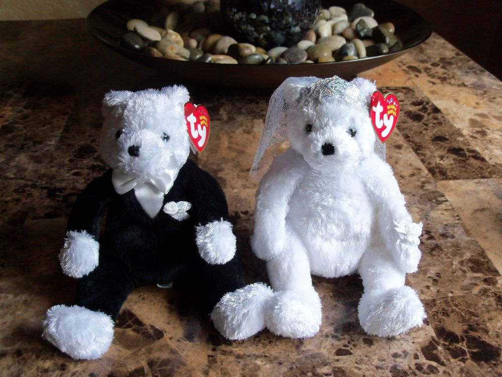 994ecb2e8a7 4 RARE TY BEANIE BABIES MR   MRS AND BRIDE   GROOM (Please see pics)  Ty