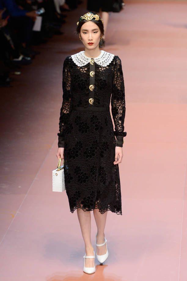 Vestiti Matrimonio Uomo Dolce Gabbana : Vestito nero in pizzo dolce e gabbana su abiti da