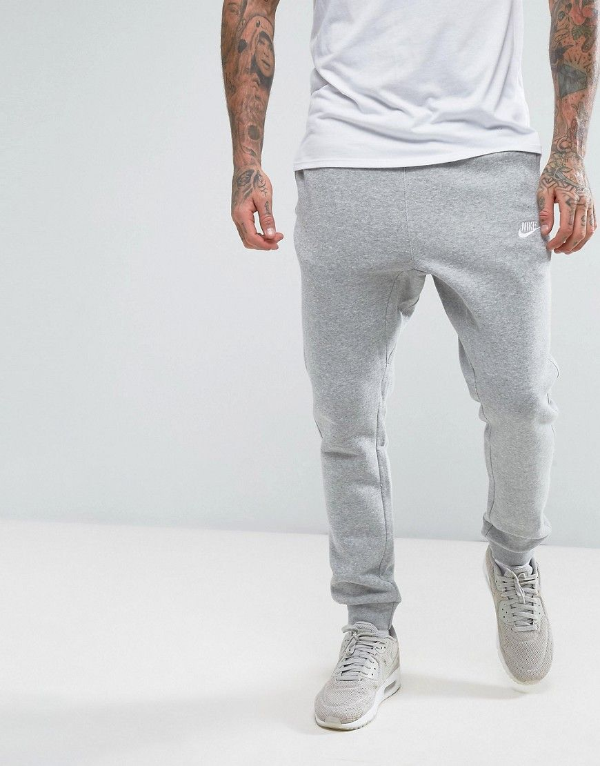 nike cuffed grey joggers