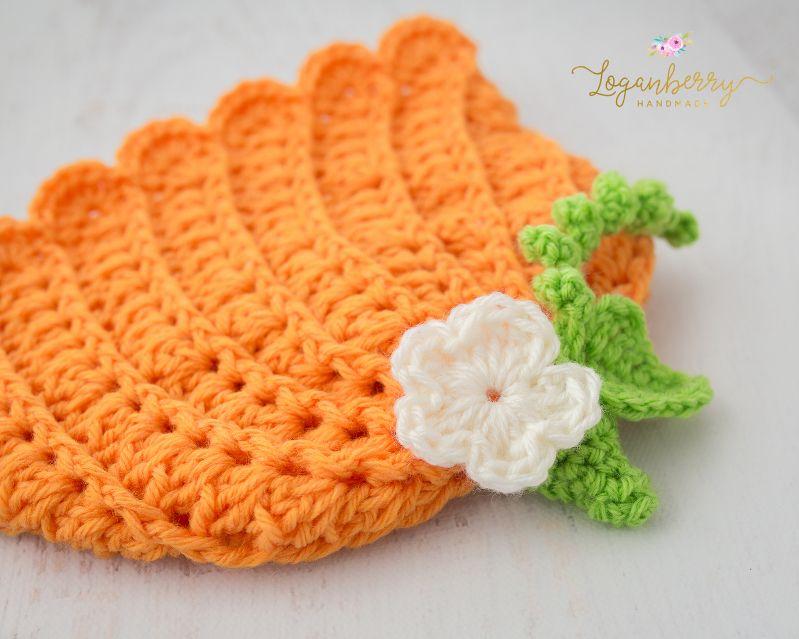 crochet pumpkin beanie, how to crochet a pumpkin beanie hat, crochet ...