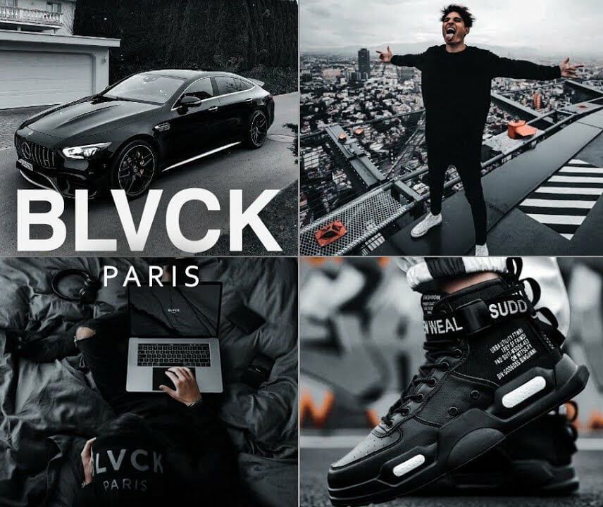 BLACK Paris styled mobile preset - Mobile presets